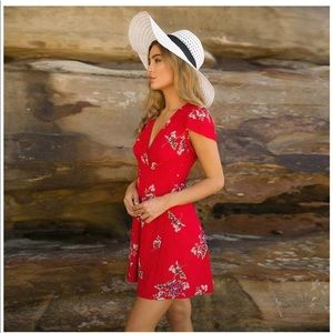 NEW Red Floral Sun Dress